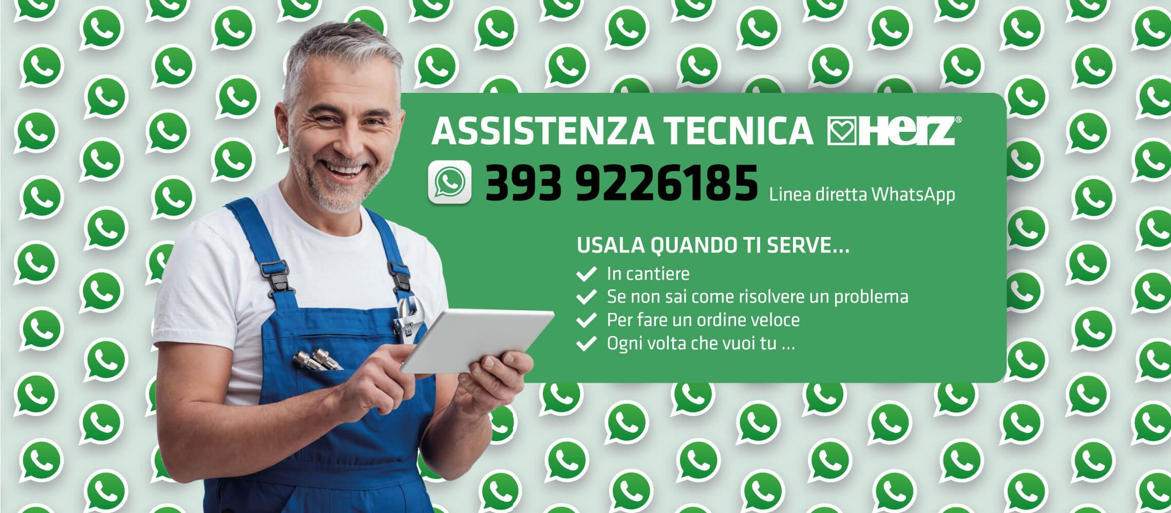 Herzitalia.it | Ora disponibile il servizio di assistenza tecnica via WhastApp